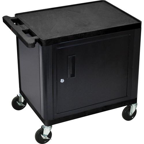 "Luxor Kitchen Cabinets: Luxor 26"" LP TABLE W/ELCTRC/CBNT (BLK/GRY) LP26CE-B B&H"