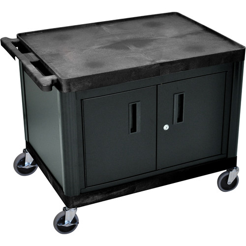 "Luxor 27"" LP Table 32x24"" with Cabinet & 3-Outlet Electric (Black)"