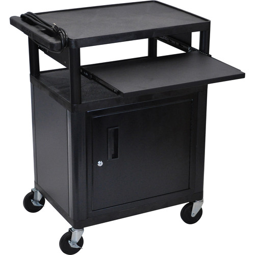 Luxor LP34CLE-B Presentation Cart with Locking Cabinet