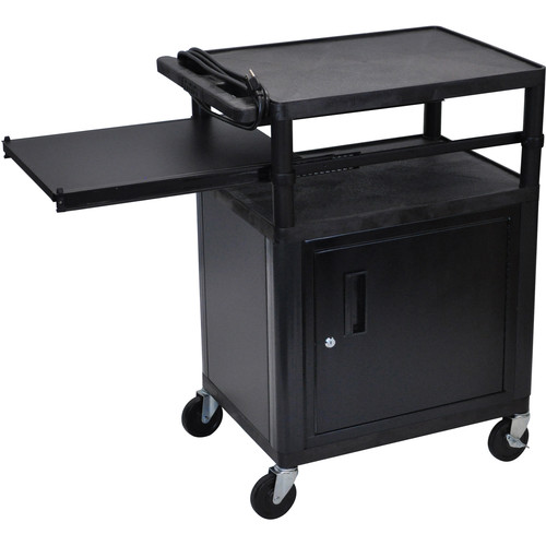 Luxor LP34CPE-B Presentation Cart with Locking Cabinet