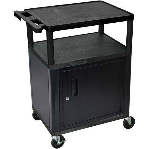 "Luxor 34"" LP Table w/Cabinet (Blk/Gry)"