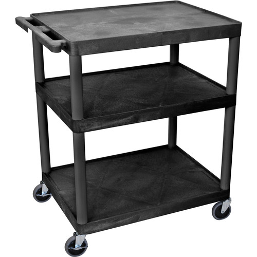 """Luxor 40"""" Extra-Wide LP Table (Black)"""