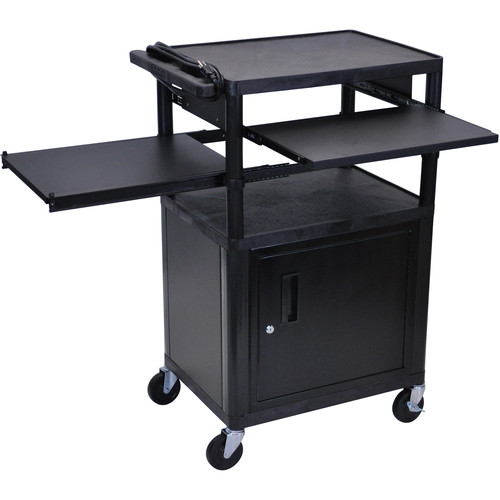 Luxor LP42CLPE-B Presentation Cart with Locking Cabinet