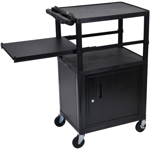 Luxor LP42CPE-B Presentation Cart with Locking Cabinet
