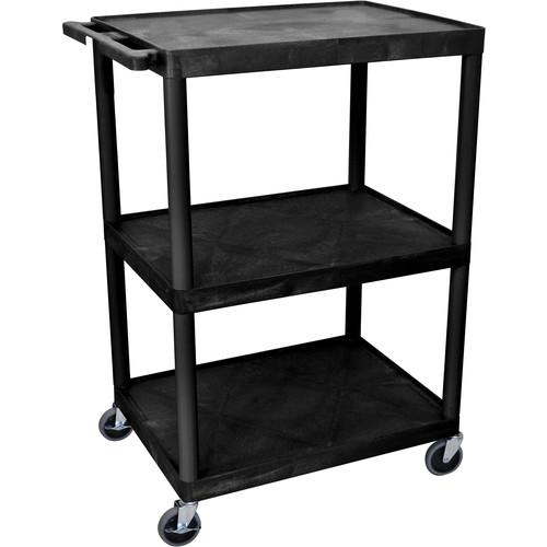 "Luxor 48"" Extra-Wide Open Shelf Table (Black)"
