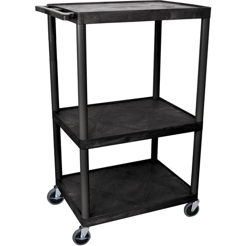 """Luxor 54"""" Extra-Wide LP Table w/Electric (Black)"""