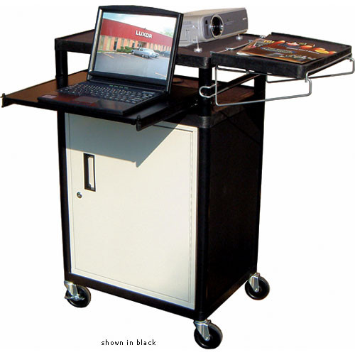 Luxor LT34PCG - Three Shelf Presentation Cart