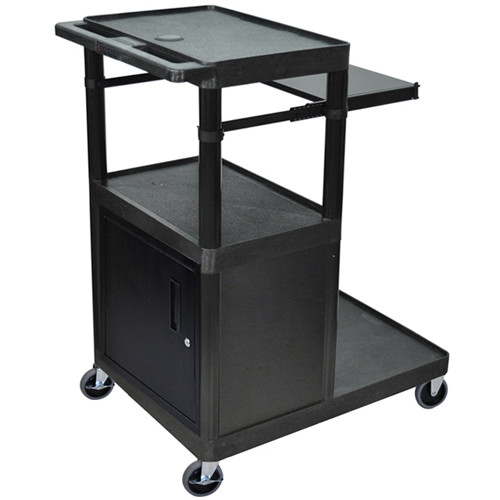 Luxor LT45PCG - Three Shelf Presentation Cart