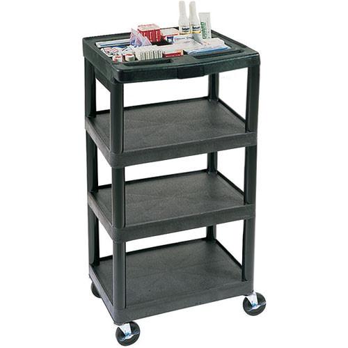 Luxor 4-Shelf General Purpose Utility Cart, Model MTC40DN (Black)