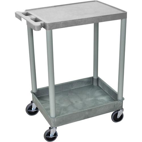 "Luxor 18x24"" HD Utility Cart/2-Shelf (Gray)"