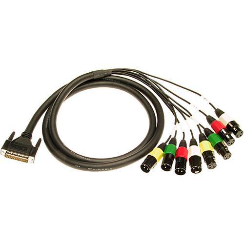 Lynx Studio Technology DB-25 Male to 4 XLR Male & 4 XLR Female Cable for LynxTWO-A - 6'