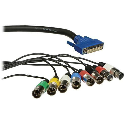 Lynx Studio Technology DB-25 Male to 6 XLR Male & 2 XLR Female Cable for LynxTWO-B - 6'
