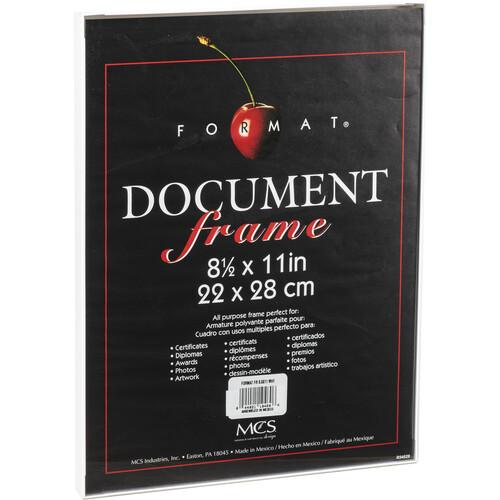"""MCS Format Frame (8.5 x 11"""", White)"""