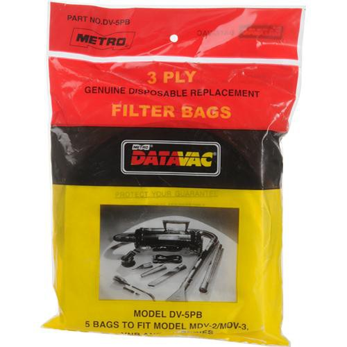 METRO DataVac Disposable Paper Bags for MDV-2 and MDV-3 Series Vacuums (5-Pack)