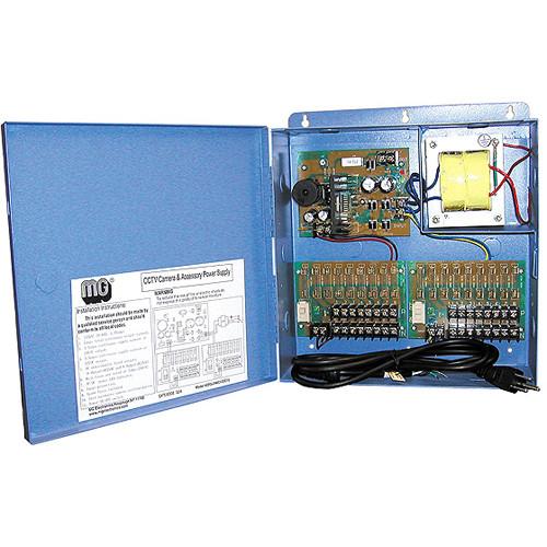 MG Electronics DPS-24AC-12DC-16 12VDC / 24VAC Dual Voltage 16-Camera Power Supply