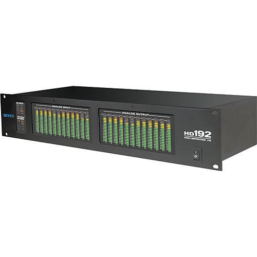 MOTU HD192 - 12 Input / 12 Output High Resolution Expansion Interface for MOTU Hard Drive Recording Systems