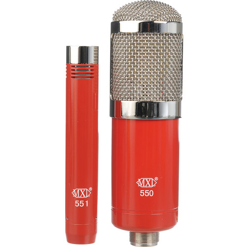 MXL 550/551 Microphone Ensemble Kit (Red)