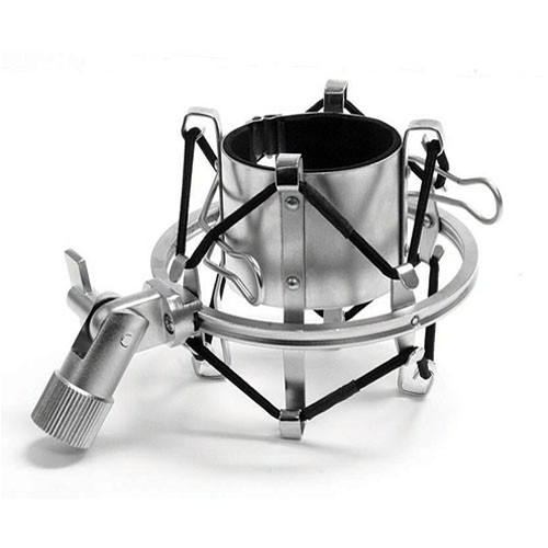 MXL-57-Silver High-Isolation Microphone Shock Mount (Silver)