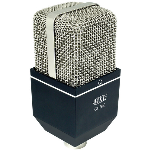 MXL Cube Drum Condenser Microphone (Black with Chrome Grille)