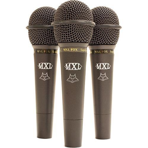 MXL FOX Dynamic Supercardioid Microphone (3-Pack)