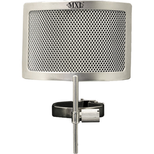 MXL PF-004-SS  Metal Mesh Pop Filter for Genesis Microphones (Chrome)