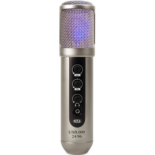 MXL USB.009 Large-Diaphragm 24-Bit / 96 kHz Studio USB Microphone