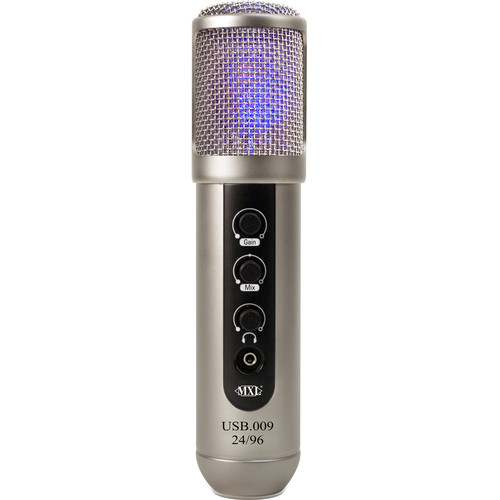 MXL USB.009 - Large Diaphragm 24-Bit 96 kHz Studio USB Microphone