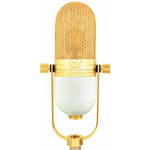 MXL V177 Low-Noise Large-Diaphragm Condenser Microphone (Eggshell White and Gold)