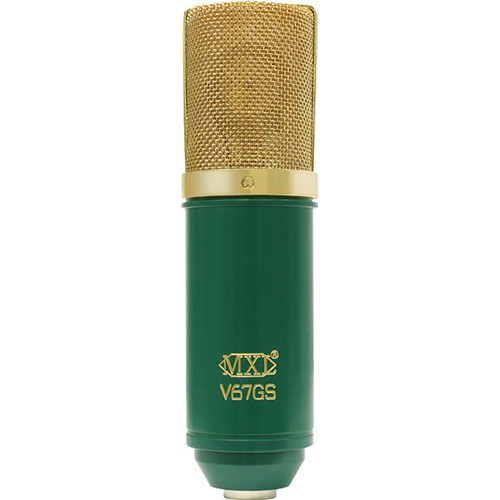 MXL V67GS Large Diaphragm Condenser Microphone (Green with Gold Grill)
