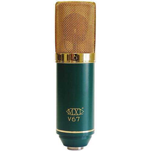 MXL V67G Large-Diaphragm Cardioid Condenser Microphone (Green with Gold Grill)