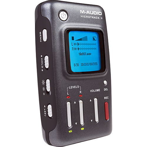 M-Audio MicroTrack II - Professional 2-Channel Mobile Digital Audio Recorder