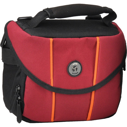 M-Rock 2050 Rocky Mountain Compact Camera Bag (Black with Burgundy)