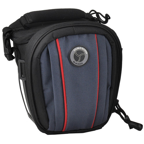 M-Rock 4010 Appalachian Double Access Holster Camera Bag (Black with Navy)