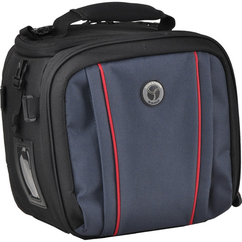 M-Rock 5040 Glacier Double Access Notebook Camera Bag (Black with Navy)