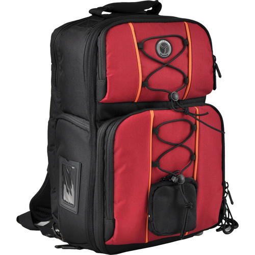 M-Rock 6030 Arches Double Access Sling-Backpack (Black with Burgundy)