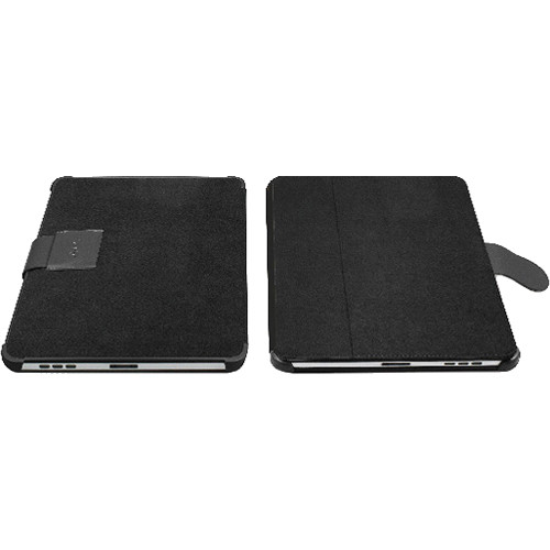 Macally BookStand Multi-functional Folder Style Protective Case for Apple iPad (Black)