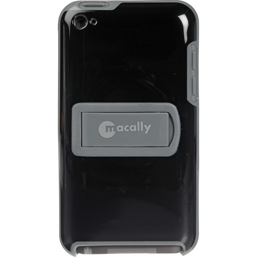 Macally Snap on Protective Case for iPod touch 4th Generation Player (Black and Grey)