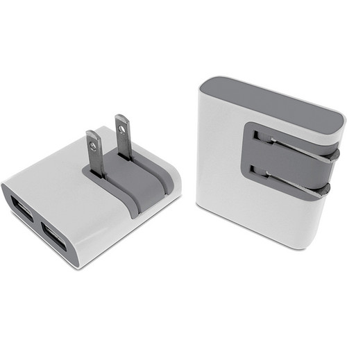Macally Dual USB Wall Charger for Apple iPhone 4