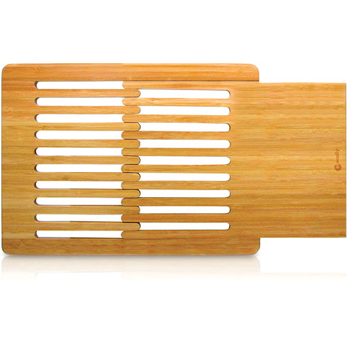 Macally ECOPAD Bamboo LapDesk with Slide-Out Mouse Pad