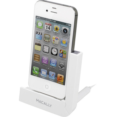 Macally Foldable Sync & Charging Dock for iPhone and iPod touch (White)