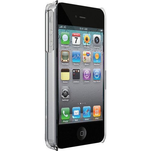 Macally METROCP4 Clear Snap-on Protective Case for Apple iPhone 4