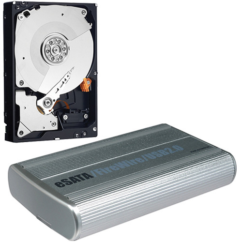 "Macally PHR-100SUA eSATA, FireWire-400, and USB 2.0 External Drive Enclosure for 3.5"" SATA Hard Drive with 2TB Hard Drive Kit"