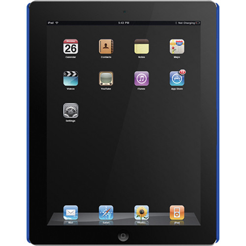 Macally Metallic Snap-On Case for iPad 2nd Generation (Blue)