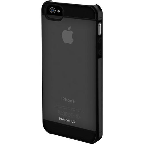 Macally Hardshell Clear Case With Soft Edges for iPhone 5 (Translucent With Black Accent)