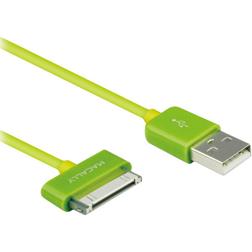 Macally 6 Feet USB to 30 pin Color Sync Cable for iPad, iPhone & iPod