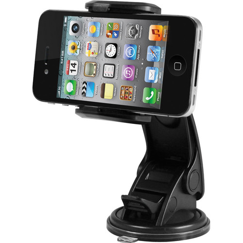 Macally Suction Cup Mount for Smartphones, iPhone, iPod, MP4, and GPS