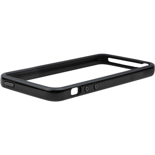 Macally Protective Frame Case for iPhone 5 (Black / Gray)