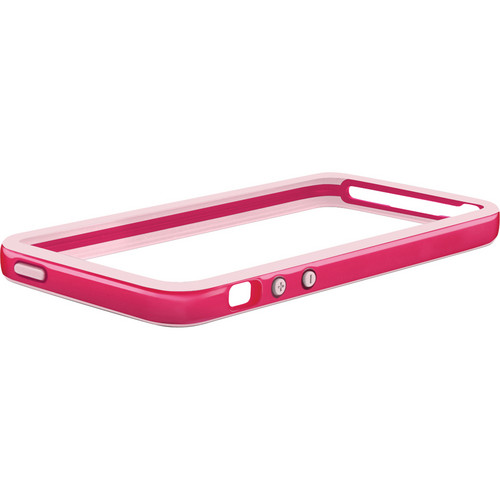 Macally Protective Frame Case for iPhone 5 (Hot Pink / Soft Pink)