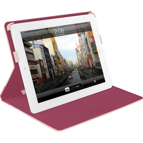 Macally Slim Folio Stand Case for iPad mini (Pink/Fushia)