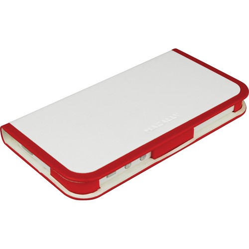 Macally Folio Stand Case for iPhone 5 (Red / White)